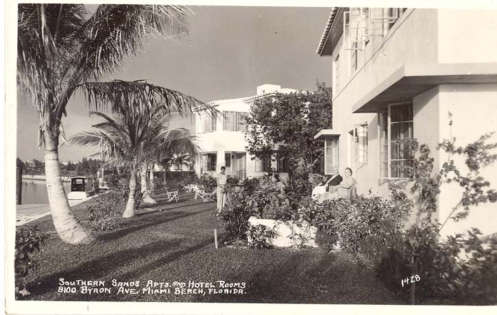 1944-RP-POSTCARD-MIAMI-FL-SOUTHERN-SANDS-APTS-HOTEL